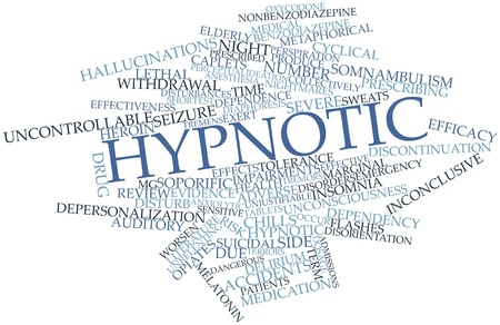 Abstract word cloud for Hypnotic with related tags and terms Stock Photo - 17141968