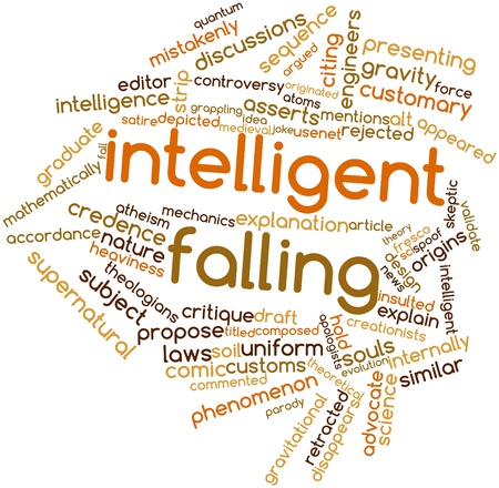 spoof: Abstract word cloud for Intelligent falling with related tags and terms