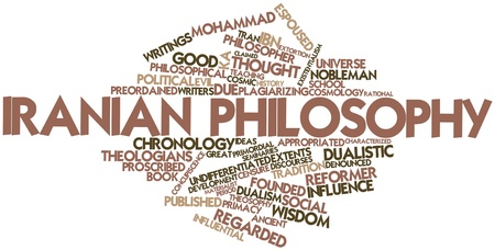 materialist: Abstract word cloud for Iranian philosophy with related tags and terms