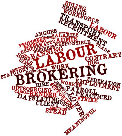 stead: Abstract word cloud for Labour brokering with related tags and terms