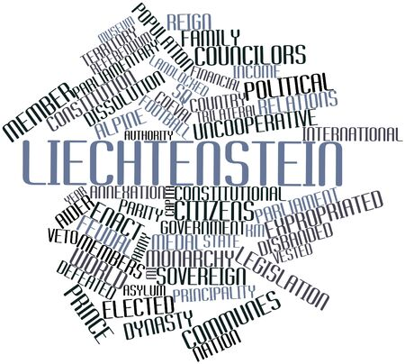 Abstract word cloud for Liechtenstein with related tags and terms Stock Photo - 17147445
