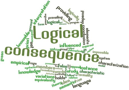Abstract word cloud for Logical consequence with related tags and terms Stock Photo - 17139161