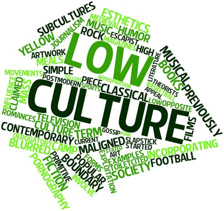 stated: Abstract word cloud for Low culture with related tags and terms
