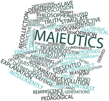 Abstract word cloud for Maieutics with related tags and terms Stock Photo - 17148978