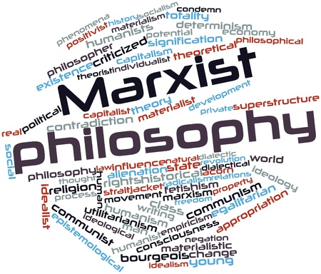 potentiality: Abstract word cloud for Marxist philosophy with related tags and terms Stock Photo