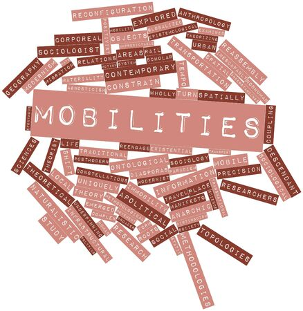 Abstract word cloud for Mobilities with related tags and terms Stockfoto