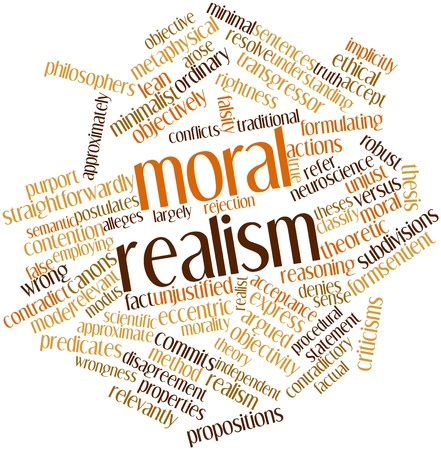 falsity: Abstract word cloud for Moral realism with related tags and terms