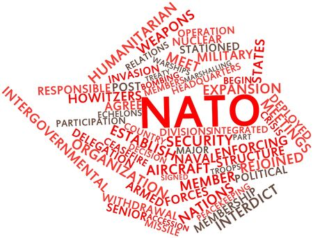 deterrent: Abstract word cloud for NATO with related tags and terms