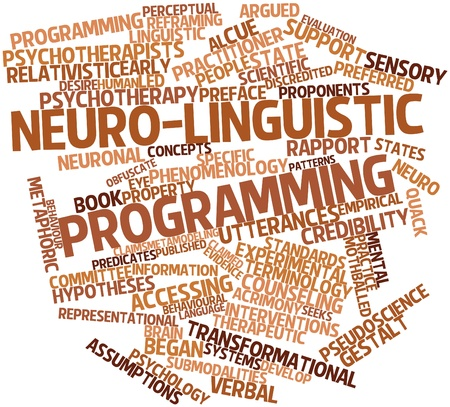 Abstract word cloud for Neuro-linguistic programming with related tags and terms