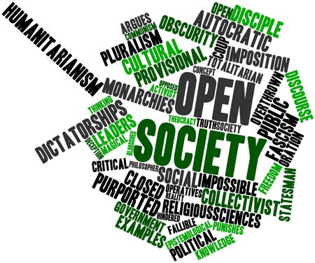 Abstract word cloud for Open society with related tags and terms Stock Photo - 17147616