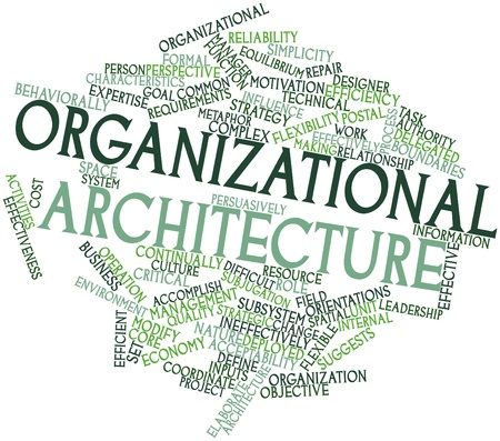 Abstract word cloud for Organizational architecture with related tags and terms Stock Photo - 17148881