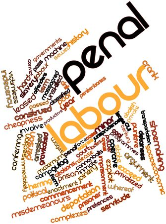 citations: Abstract word cloud for Penal labour with related tags and terms