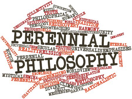 Abstract word cloud for Perennial philosophy with related tags and terms Stock Photo - 17148889