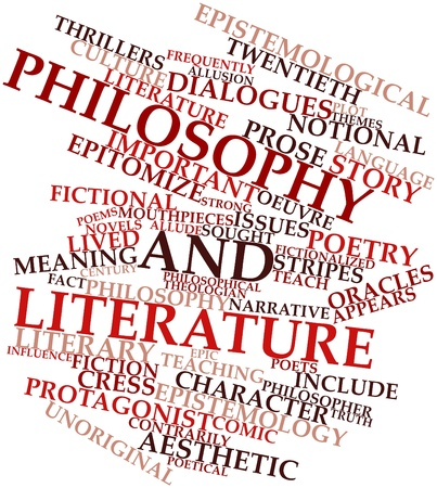 poems: Abstract word cloud for Philosophy and literature with related tags and terms