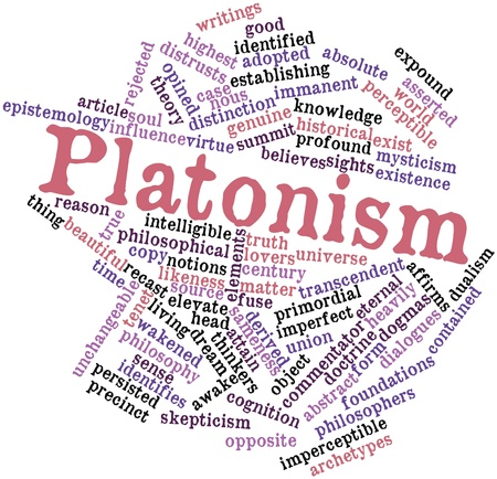 philosophers: Abstract word cloud for Platonism with related tags and terms
