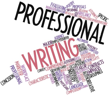 Abstract word cloud for Professional writing with related tags and terms