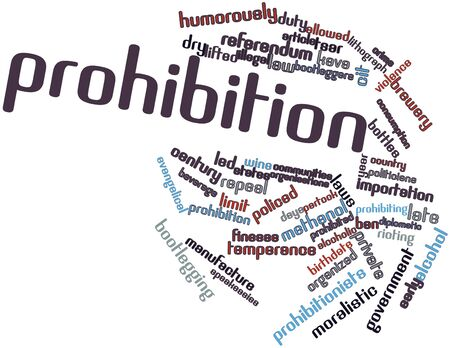 Abstract word cloud for Prohibition with related tags and terms Stock Photo - 17141799