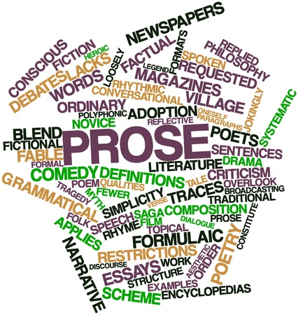 prose: Abstract word cloud for Prose with related tags and terms