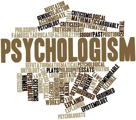 derived: Abstract word cloud for Psychologism with related tags and terms