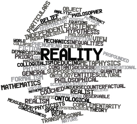 immaterial: Abstract word cloud for Reality with related tags and terms