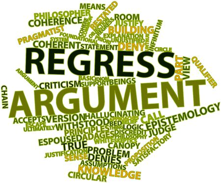 Abstract word cloud for Regress argument with related tags and terms Stock Photo - 17148871