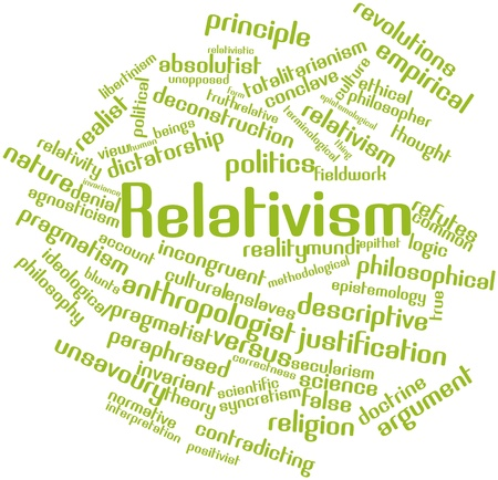 Abstract word cloud for Relativism with related tags and terms Stock Photo - 17142107