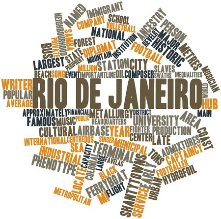Abstract word cloud for  de Janeiro with related tags and terms Stock Photo - 17148880