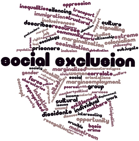 Abstract word cloud for Social exclusion with related tags and terms Stock Photo - 17142070
