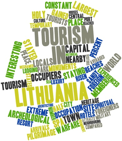 gained: Abstract word cloud for Tourism in Lithuania with related tags and terms