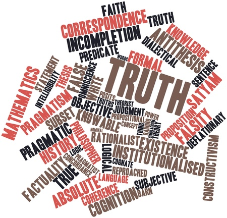 concordance: Abstract word cloud for Truth with related tags and terms Stock Photo