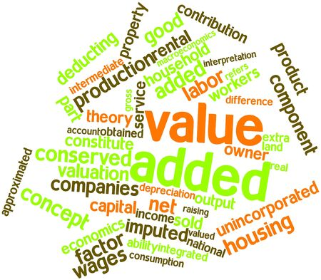 economists: Abstract word cloud for Value added with related tags and terms