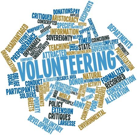 altruism: Nube palabra abstracta para el Voluntariado con las etiquetas y términos relacionados