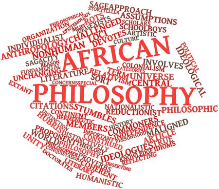 Abstract word cloud for African philosophy with related tags and terms Stock Photo - 17149613