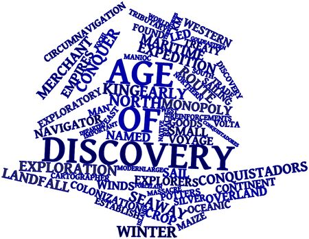 Abstract word cloud for Age of Discovery with related tags and terms Stock Photo - 17148910