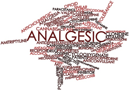 Abstract word cloud for Analgesic with related tags and terms Stock Photo - 17147428
