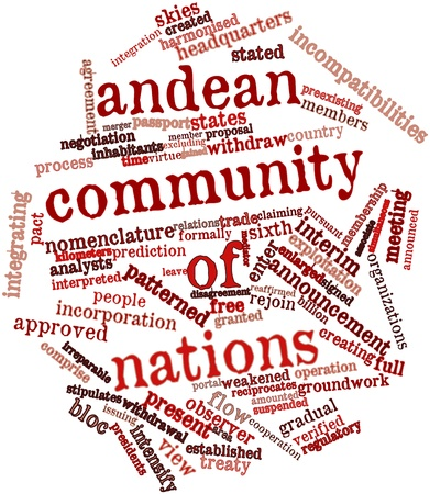 stated: Abstract word cloud for Andean Community of Nations with related tags and terms