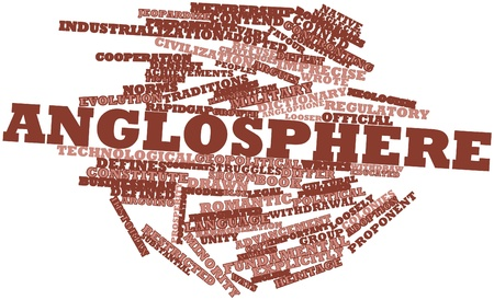 neologism: Abstract word cloud for Anglosphere with related tags and terms