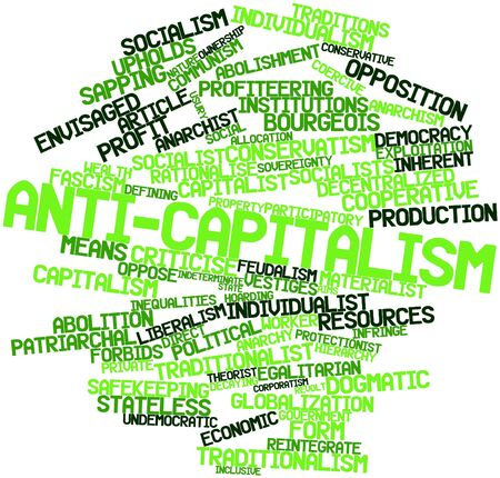 Abstract word cloud for Anti-capitalism with related tags and terms Stock Photo - 17149282