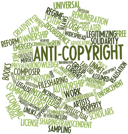 Abstract word cloud for Anti-copyright with related tags and terms Stock Photo - 17149367