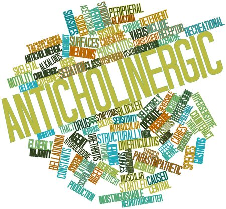 nicotinic: Abstract word cloud for Anticholinergic with related tags and terms