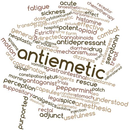 purported: Word cloud astratto per antiemetica con tag correlati e termini Archivio Fotografico