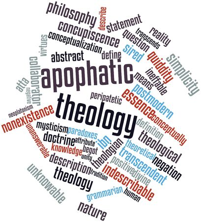 quiddity: Abstract word cloud for Apophatic theology with related tags and terms