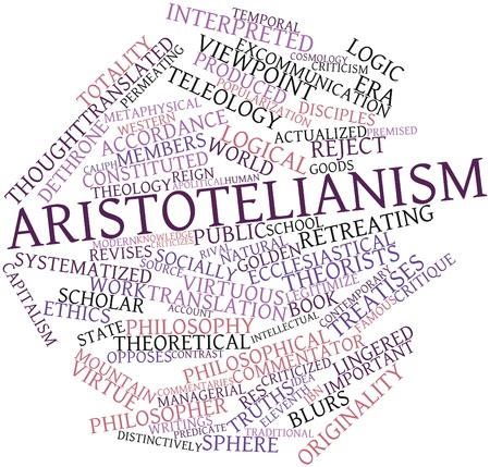 critique: Abstract word cloud for Aristotelianism with related tags and terms