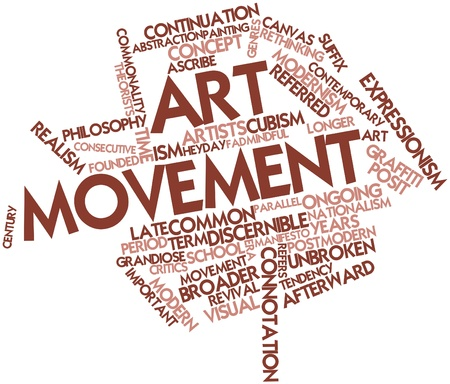 continuation: Abstract word cloud for Art movement with related tags and terms