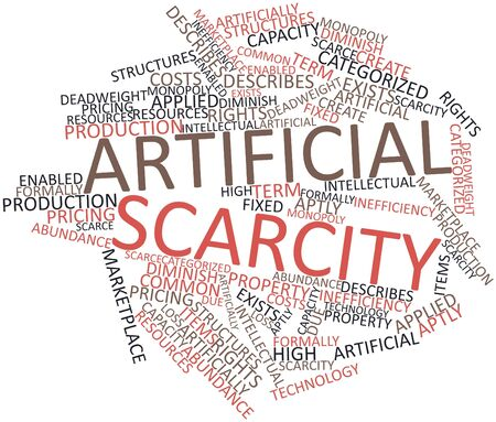 scarce resources: Abstract word cloud for Artificial scarcity with related tags and terms