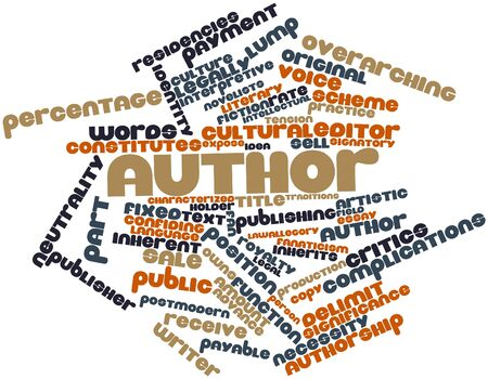 Abstract word cloud for Author with related tags and terms photo