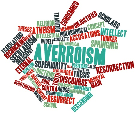 accusations: Abstract word cloud for Averroism with related tags and terms