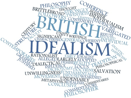 alleged: Abstract word cloud for British idealism with related tags and terms