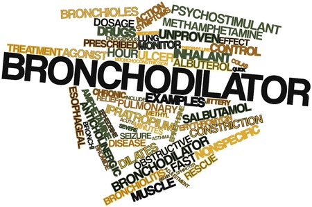 bronchioles: Abstract word cloud for Bronchodilator with related tags and terms