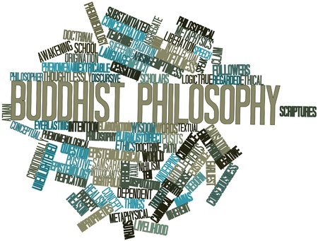 causation: Abstract word cloud for Buddhist philosophy with related tags and terms